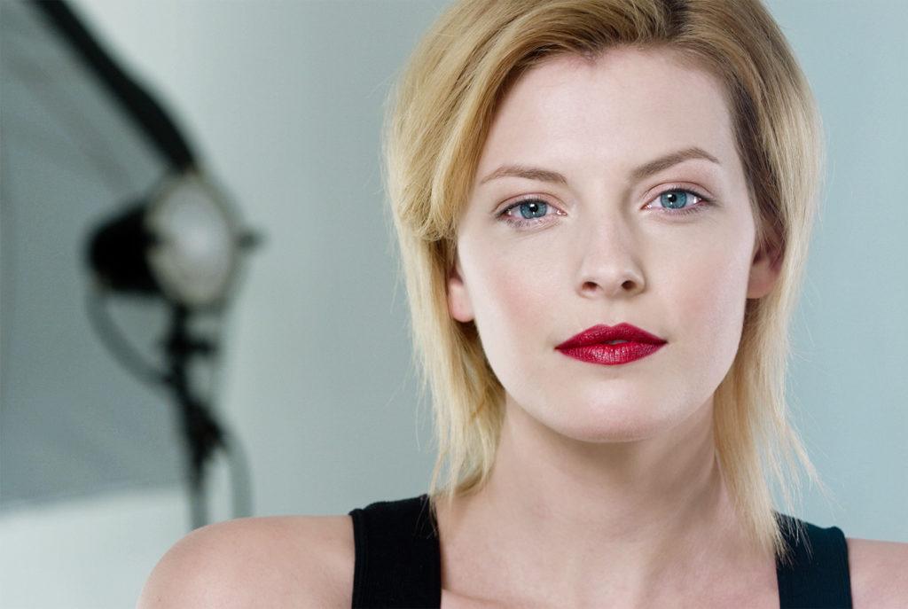 female beauty model for makeup tutorial video